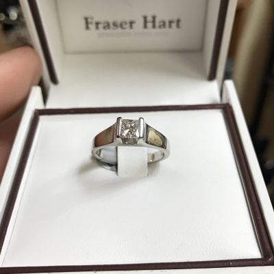 0.40 Carat Diamond Solitaire 18 Carat White Gold by Fraser Hart