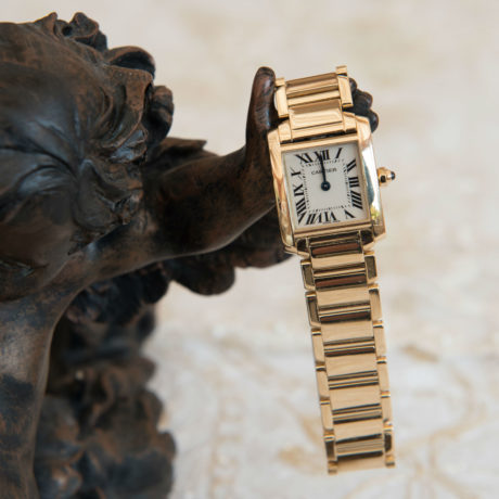 Cartier 18 Ct Gold Ladies Tank Francaise Watch