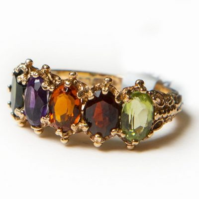9ct Gold Multi Stoned Dress Ring