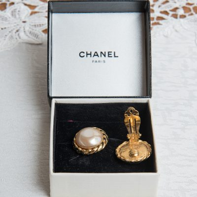 Chanel Gold Plated Clip Earrings