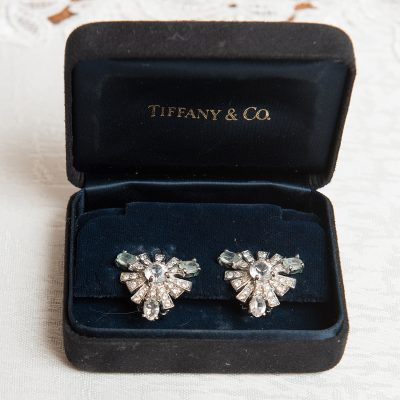 Tiffany Diamond Clip Earrings