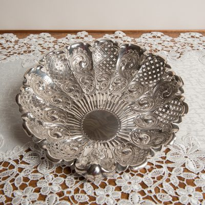 Victorian Silver Serving Dish