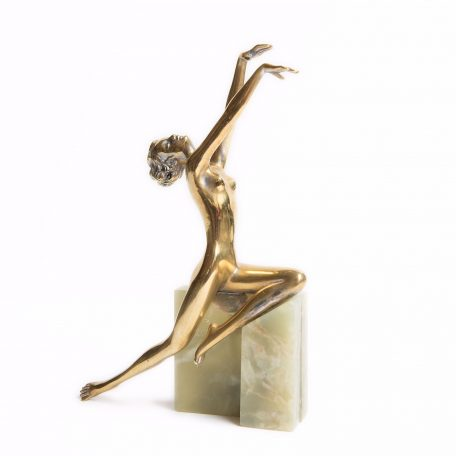 Vivien Lady Art Deco Statue by Lorenzl