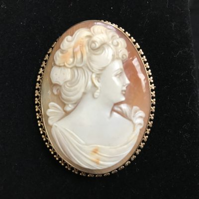 Cameo set in 9 carot Gold.