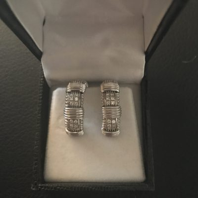 Diamond White Gold Earrings