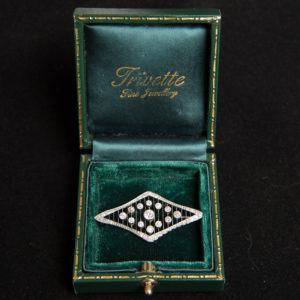 Art Deco Diamond and Platinum Brooch circa 1925