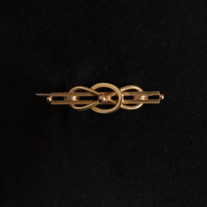 Art Deco 9 Carat Gold Loop Bar Brooch