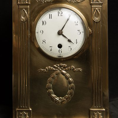 Art Nouveau Brass Bracket Clock