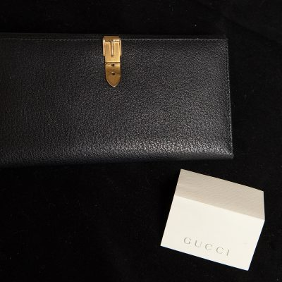 Gucci Black Leather Purse